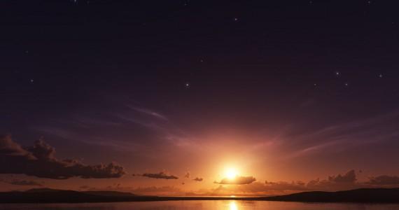 звезды на закате