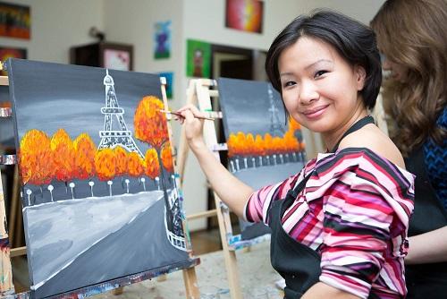 Осень в Париже - творческий процесс