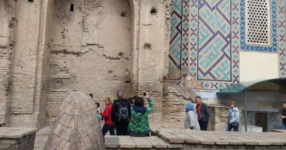 Задняя стена Гур Эмира