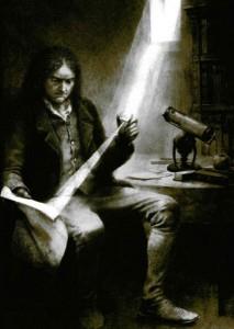 Isaak Newton zanyat rasschetami