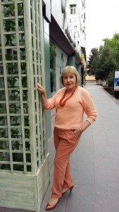 Татьяна Агафонова на улицах Ташкента