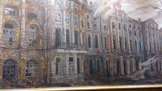 Царское село. Екатерининский дворец после пожара